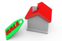 3d man home for sale concept Stock Images