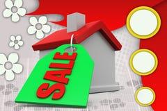 3d man home for sale illustration Stock Images
