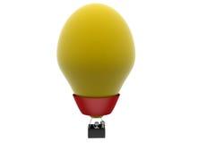 3d man hot air balloon concept Stock Photos