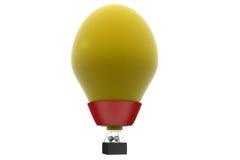 3d man hot air balloon concept Royalty Free Stock Photos