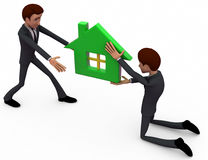 3d man house agent concept Stock Photography