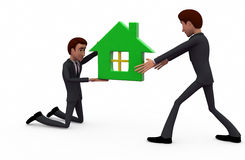 3d man house agent concept Stock Photo