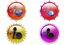 3d man http icon Royalty Free Stock Image