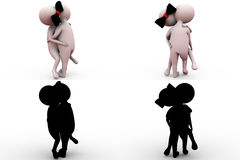 3d man hug concept collections with alpha and shadow channel Stock Image