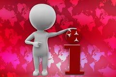 3D man I- intelligent illustration Royalty Free Stock Photo