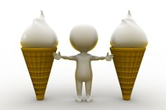 3d man  ice cream Stock Photo