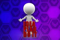 3d man idea plan do it illustration Stock Photography