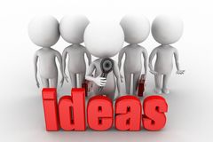 3d man ideas concept Royalty Free Stock Images
