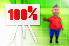 3d man 100% illustration Royalty Free Stock Photography