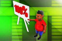 3d man 100% illustration Stock Photography