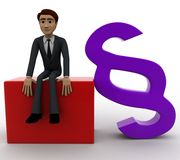 3d man with infinity symbol concept Royalty Free Stock Photo