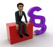 3d man with infinity symbol concept Royalty Free Stock Image