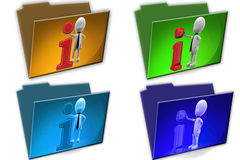 3d Man info icon cconcept icon Royalty Free Stock Images