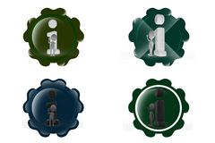3d man info icon Stock Photography