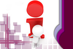 3d man info icon illustration Stock Photography