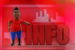 3D man info illustration Royalty Free Stock Photos