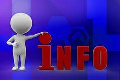 3D Man info illustration Stock Image