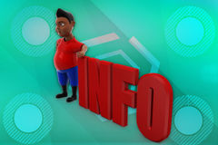 3D man info illustration Royalty Free Stock Images