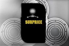 3d man inside surprice menu box illustration Stock Images