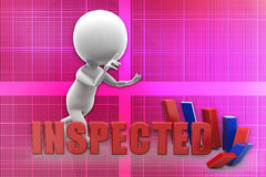 3d man inspected illustration Stock Photography