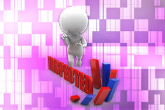 3d man inspected illustration Stock Images