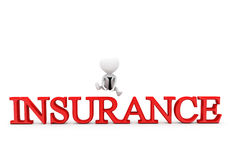 3d man insurance concept Royalty Free Stock Photo