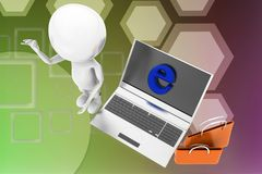 3d man internet shopping illustration Royalty Free Stock Photo