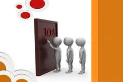 3d man job door illustration Stock Image