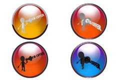 3d man job offer icon Royalty Free Stock Photography