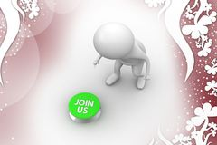 3d man join us illustration Royalty Free Stock Photo