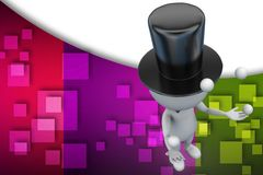 3d man jongleur, entertaining the crowd illustration Stock Images