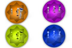 3D Man judgement concept icon Royalty Free Stock Images