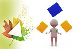 3d man juggling file illustration Stock Photos