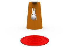 3d man jump to target concept Royalty Free Stock Photography