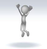3d man jumping Royalty Free Stock Photo