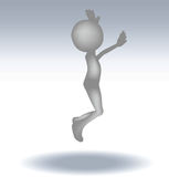3d man jumping Royalty Free Stock Images