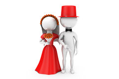 3d man just married couple concept Royalty Free Stock Images