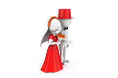 3d man just married couple concept Royalty Free Stock Photos
