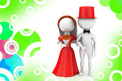 3d man just married couple illustration Royalty Free Stock Photography