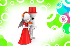 3d man just married couple illustration Stock Image