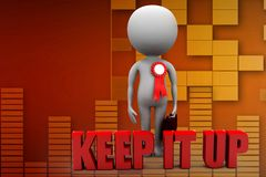 3d man keep it up illustration Stock Photo