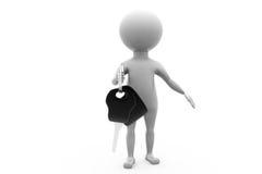3d man keys concept Stock Image