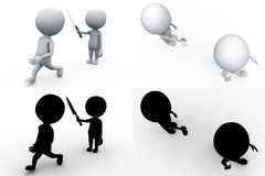 3d man kill concept collections with alpha and shadow channel Stock Photo