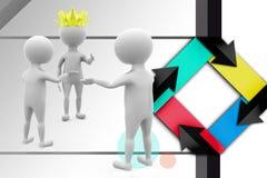 3d man king illustration Royalty Free Stock Image