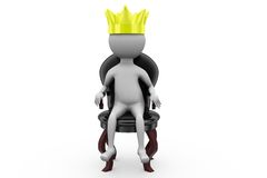 3d man king on the throne concept Stock Image