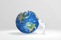 3D man kisses Earth Royalty Free Stock Photos