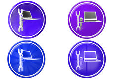 3d man laptop tool icon Royalty Free Stock Image