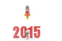 3d man launch 2015 concept Stock Photography