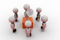 3d man leader speaking concept Royalty Free Stock Image