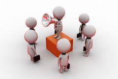 3d man leader speaking concept Royalty Free Stock Photography